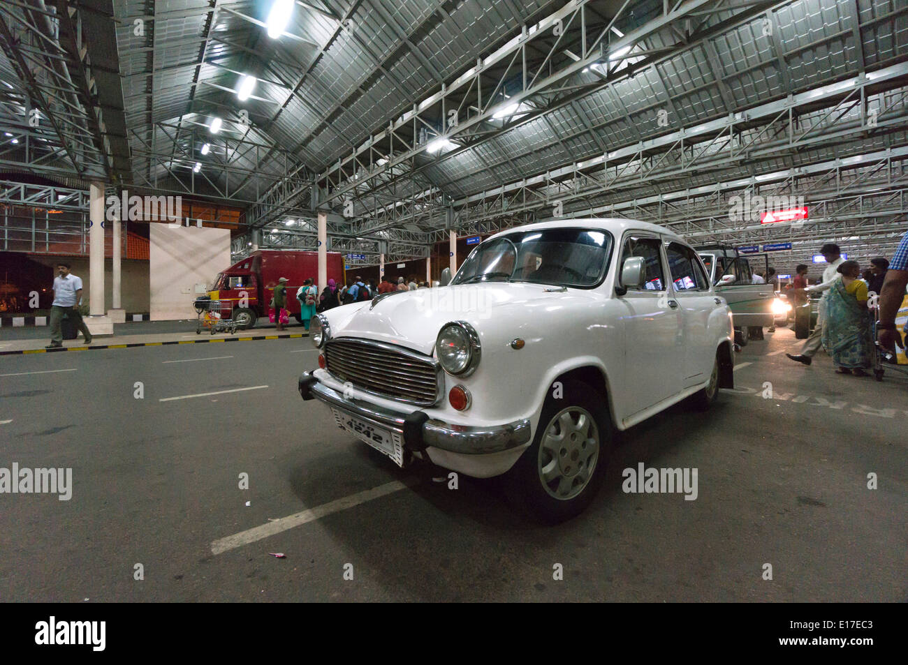 TATA Ambassador car India - manufacture ceased in May 2014. Kochi airport taxi. Stock Photo