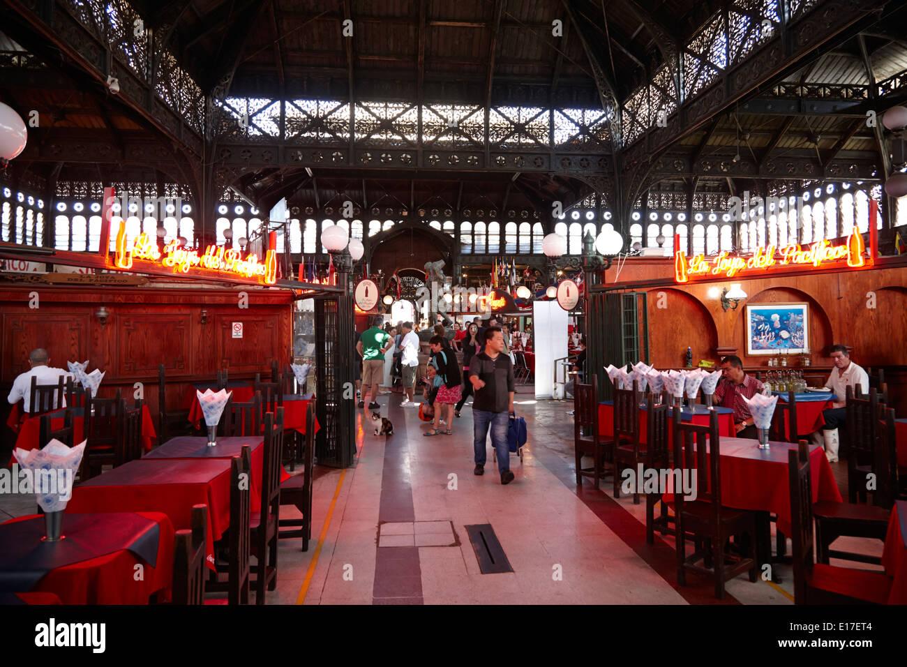 mercado central market Santiago Chile - Stock Image