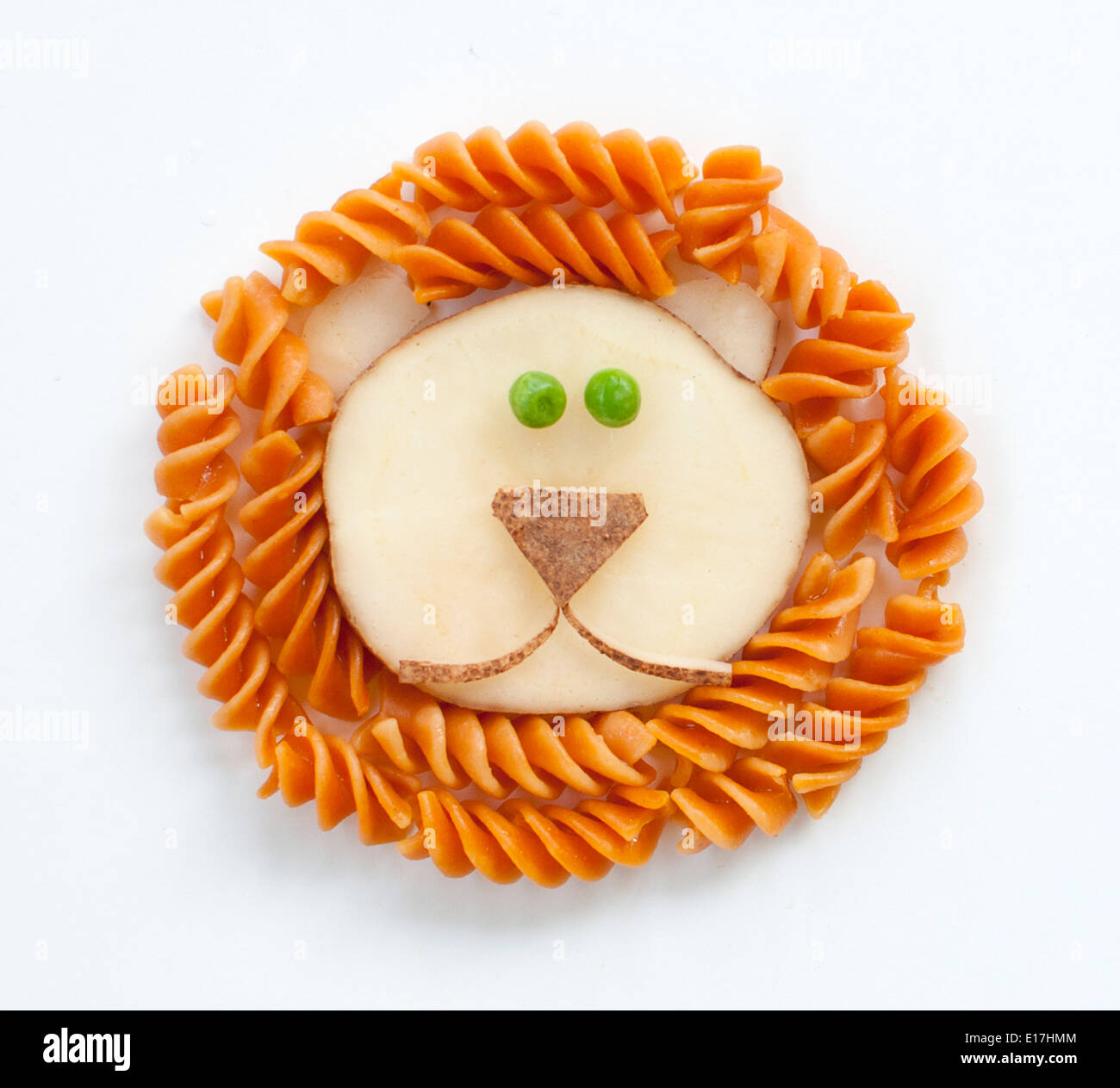 Macaroni Lion Art - Stock Image