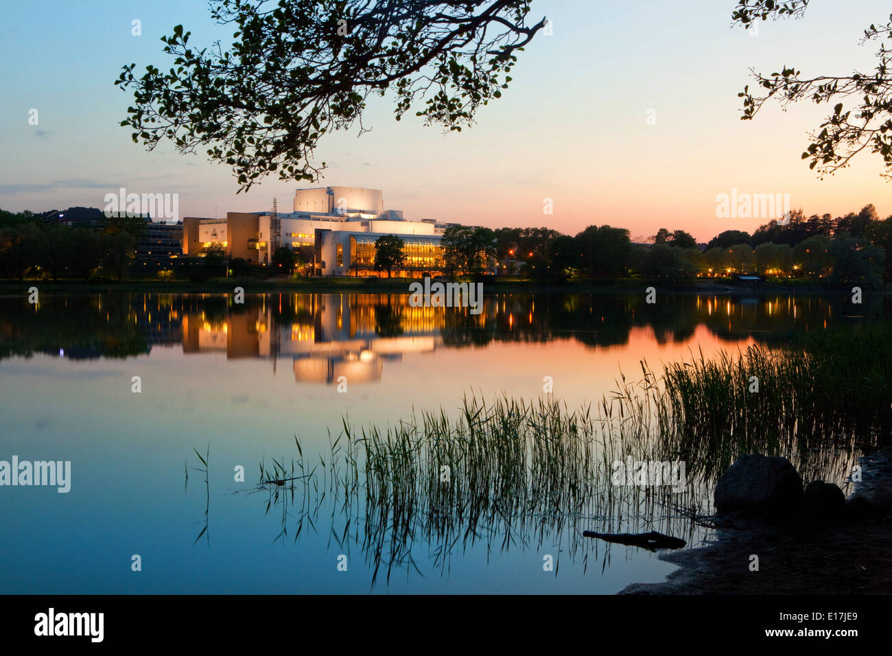 The Finnish National Opera House in Helsinki - Stock Image