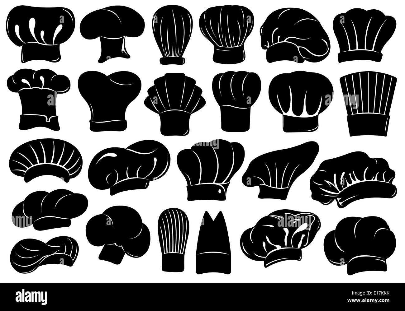 Set Of Different Chef Hats Stock Photo Alamy