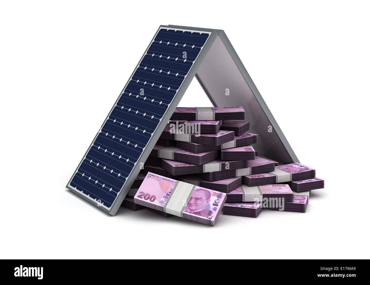 Energy Saving (turkish Lira) Stock Photo