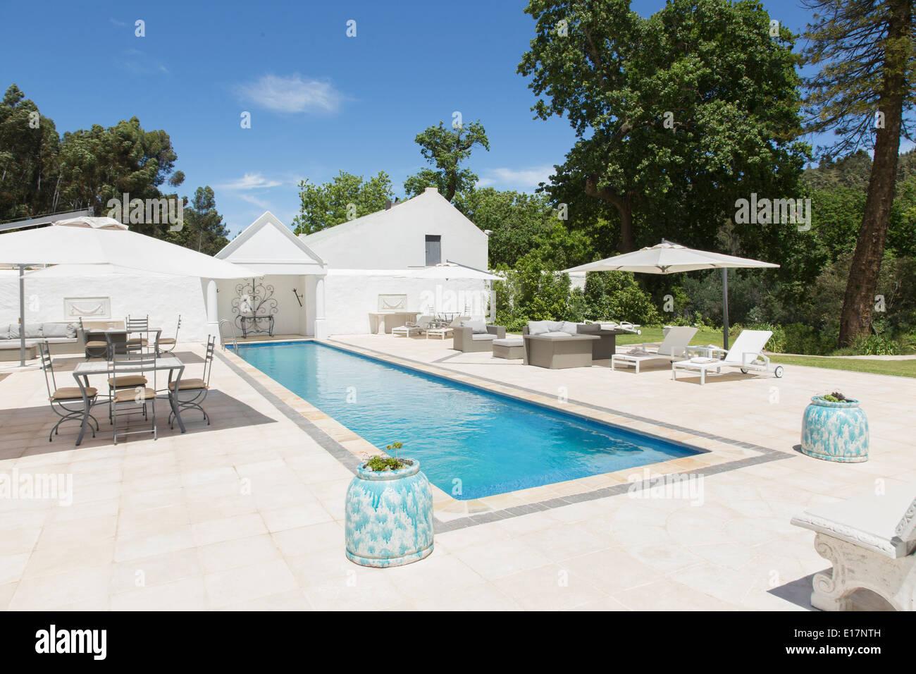 Luxury lap pool - Stock Image