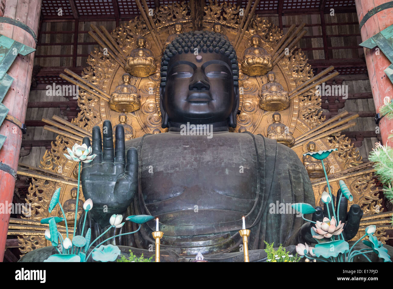 Great Buddha at Daibutsuden,Todaiji - Stock Image