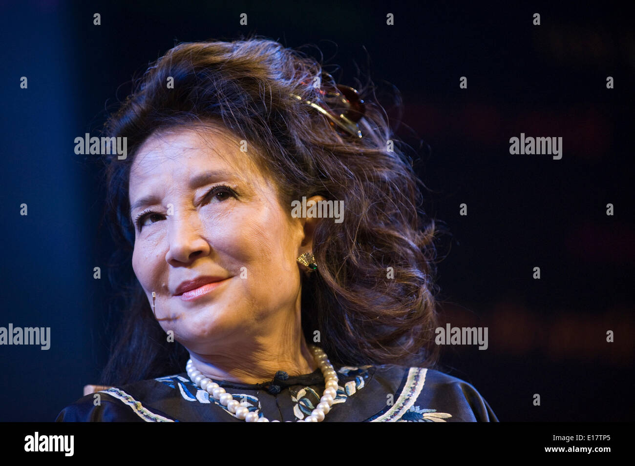 Jung Chang author speaking about the Chinese Empress Dowager Cixi at Hay Festival 2014 ©Jeff Morgan - Stock Image