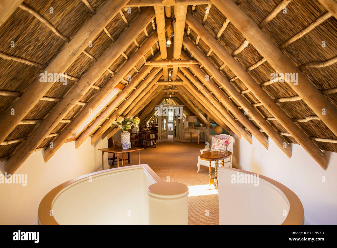 Sunny luxury attic - Stock Image
