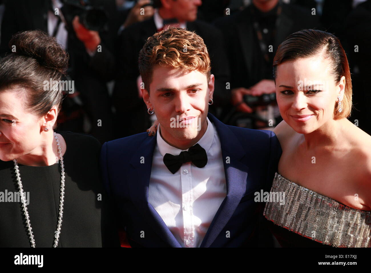 Anne Dorval. director Xavier Dolan and Suzanne Clement at the Palme d'Or  Closing Awards Ceremony red carpet at the 67th Cannes Film Festival France. Saturday 24th May 2014 in Cannes Film Festival, France. - Stock Image