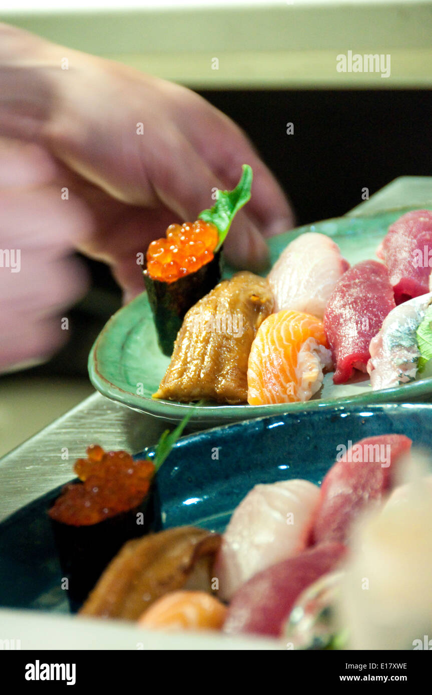 Japanese restaurant Paris France - Stock Image