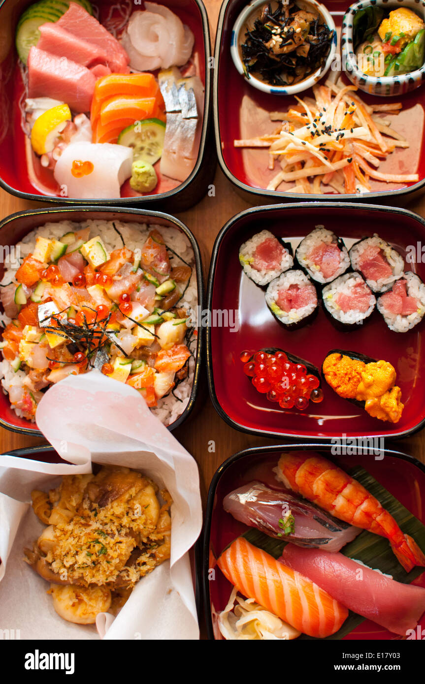 Traditional Japanese food in Paris - Stock Image