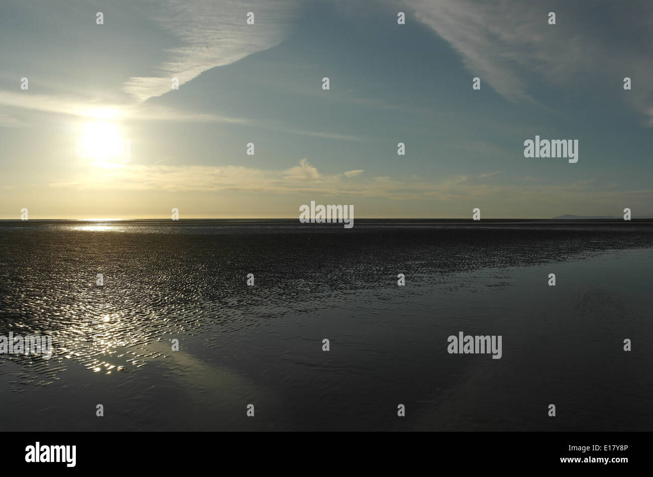 Sea Water 1 Calm Expanse Irish Sea Background View Stock
