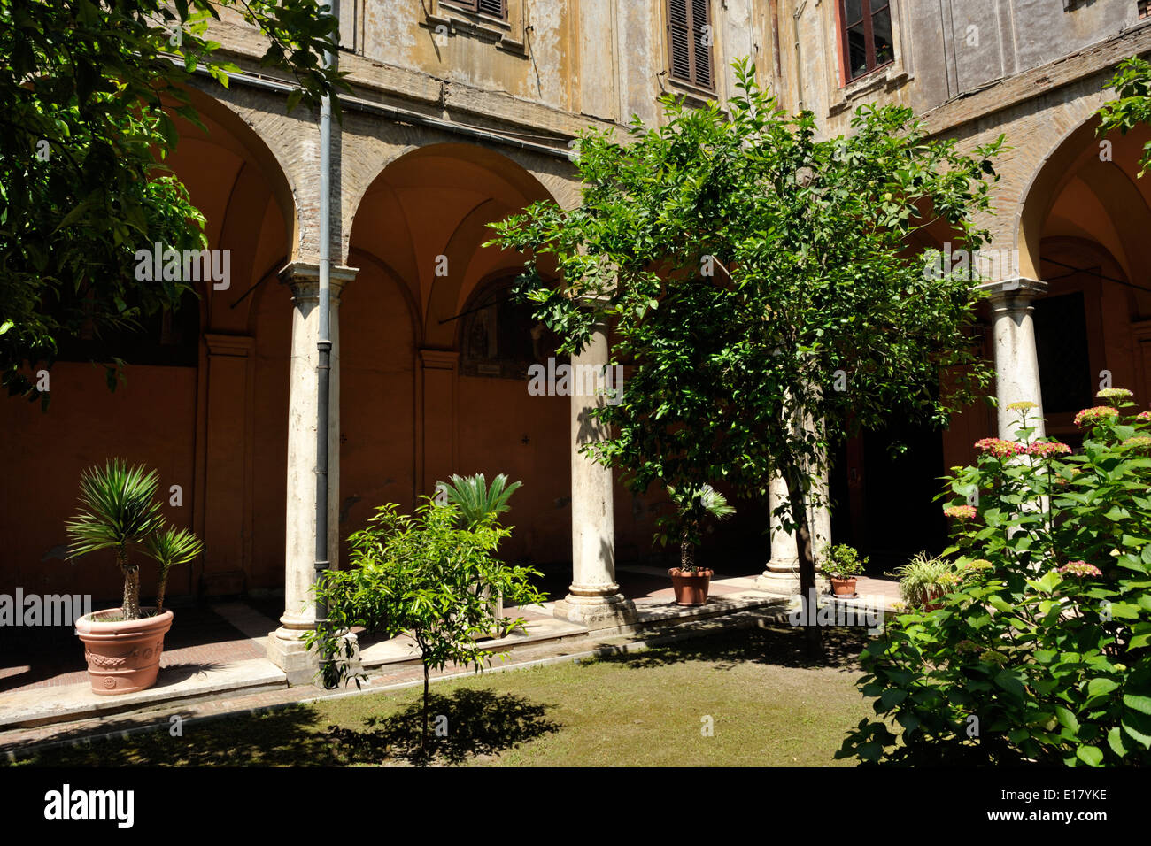 italy, rome, church of sant'andrea delle fratte, cloister - Stock Image