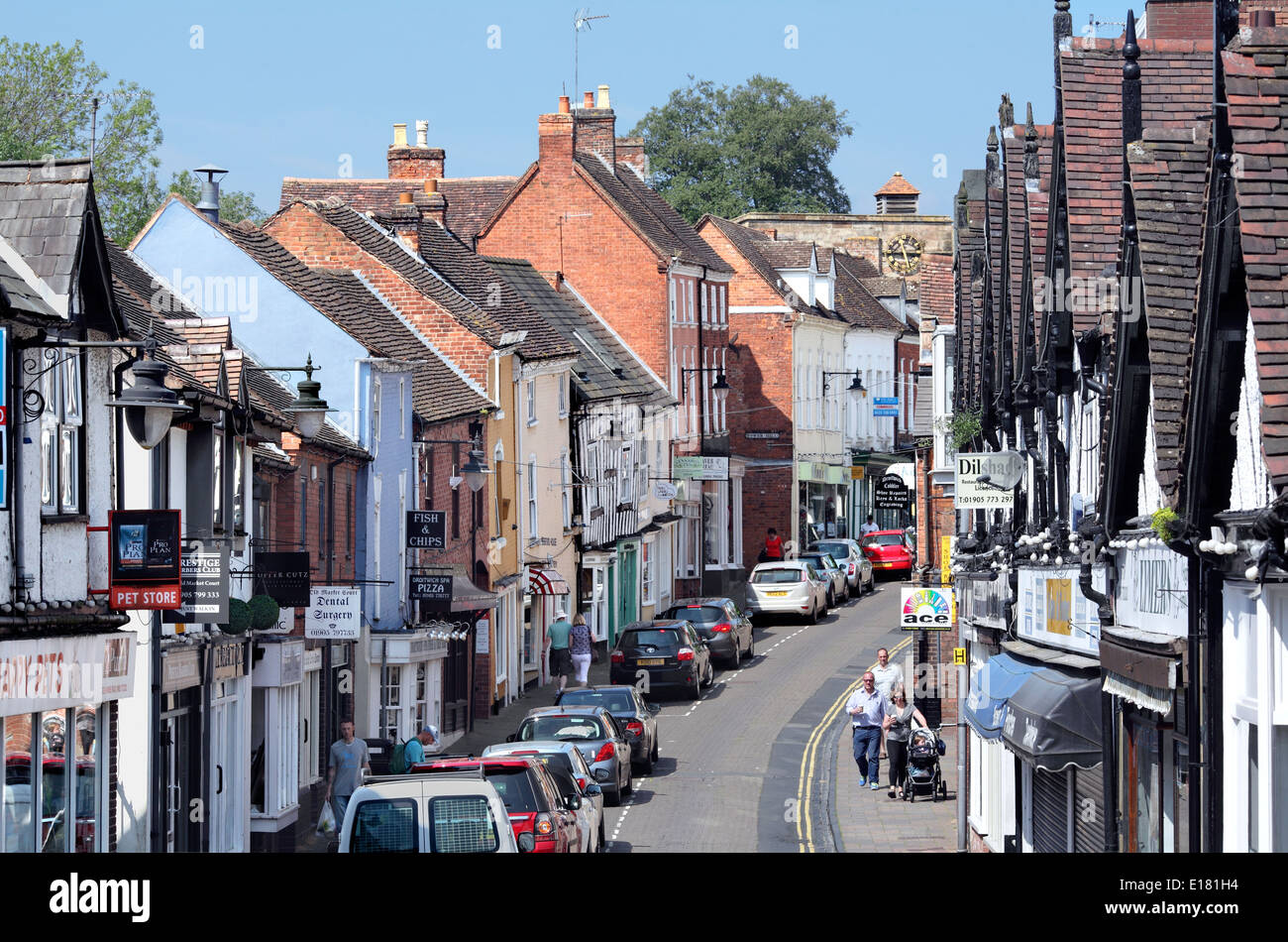 The High Street, Droitwich Spa, Worcestershire. Stock Photo