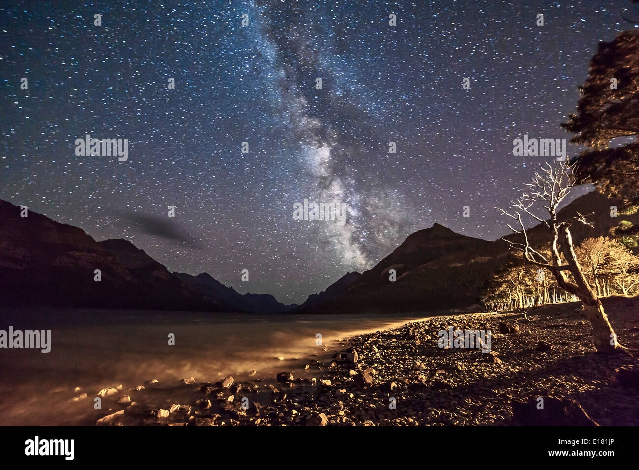 Nightscape - Stock Image