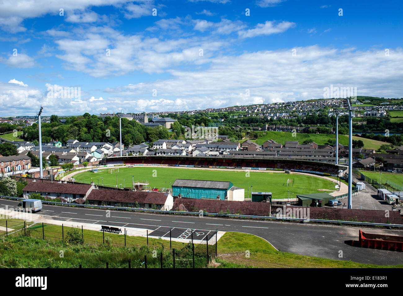 Brandywell Stadium, home of Airtricity Premier League club Derry City - Stock Image