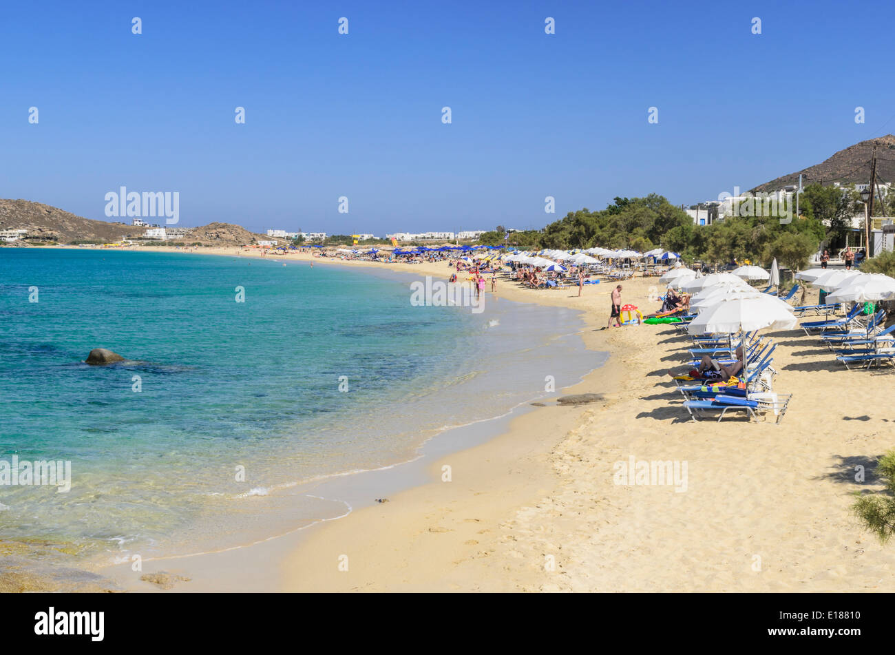 Agios Prokopios Beach on Naxos Island, Cyclades, Greece Stock Photo