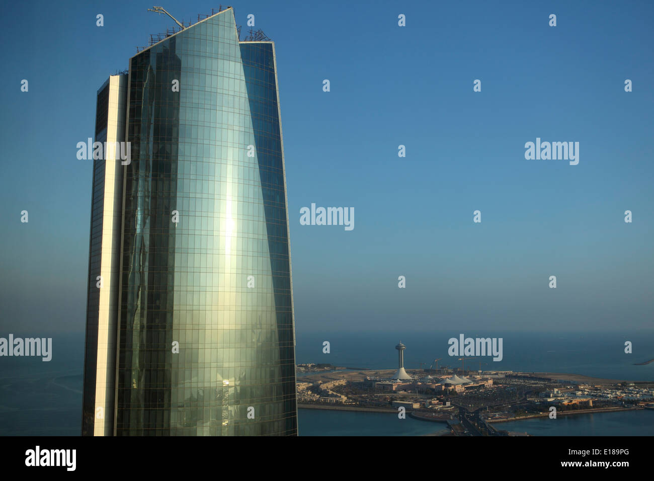 One of the Etihad Towers in Abu Dhabi. - Stock Image