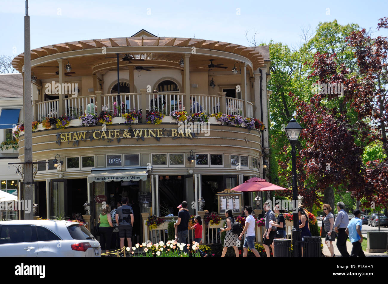Niagara on the Lake restaurant - Stock Image