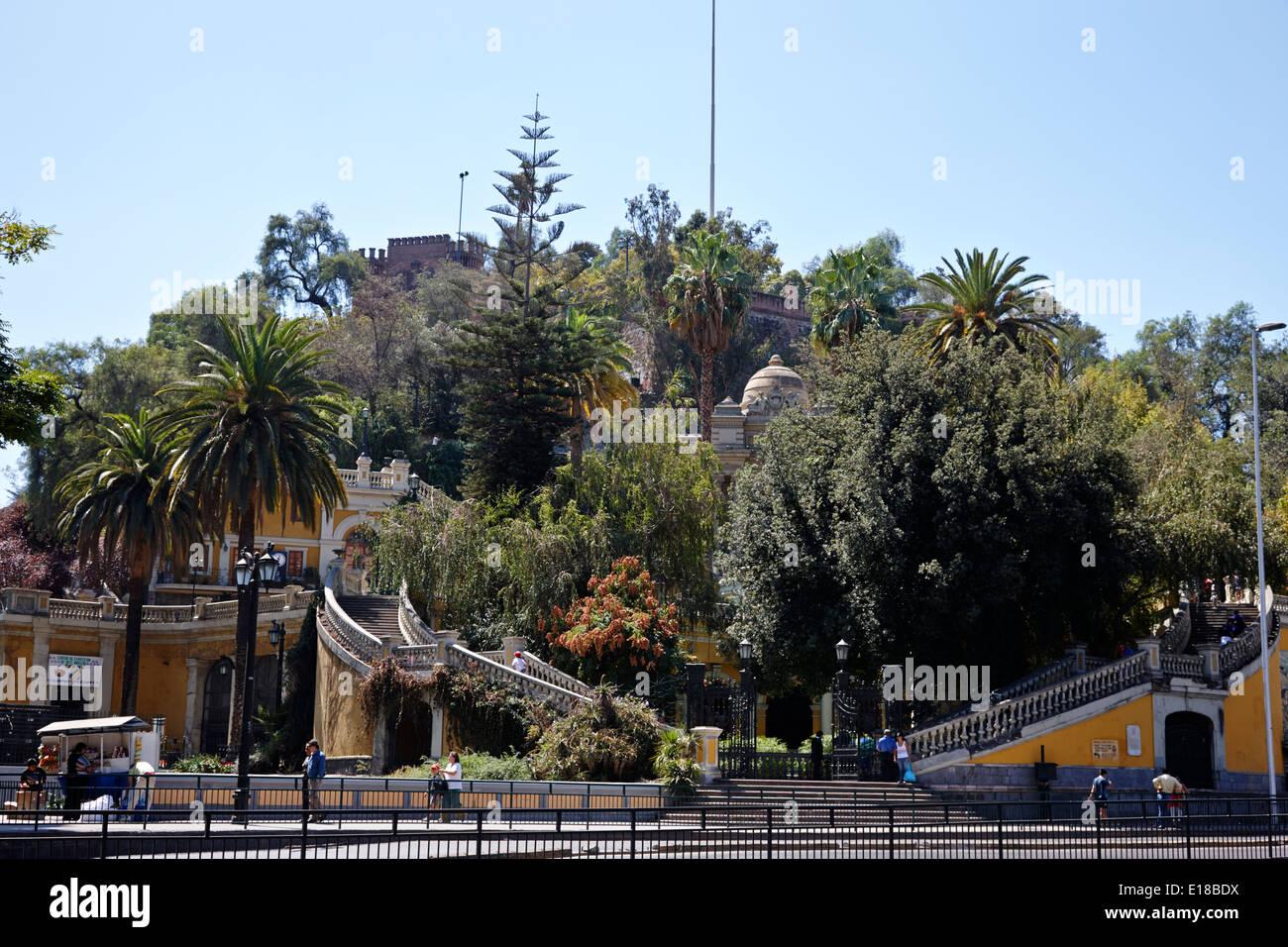 entrance to cerro santa lucia hill Santiago Chile Stock Photo