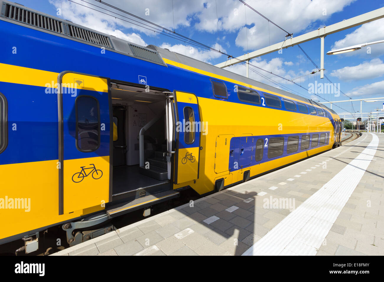Intercity train in The Netherlands - Stock Image