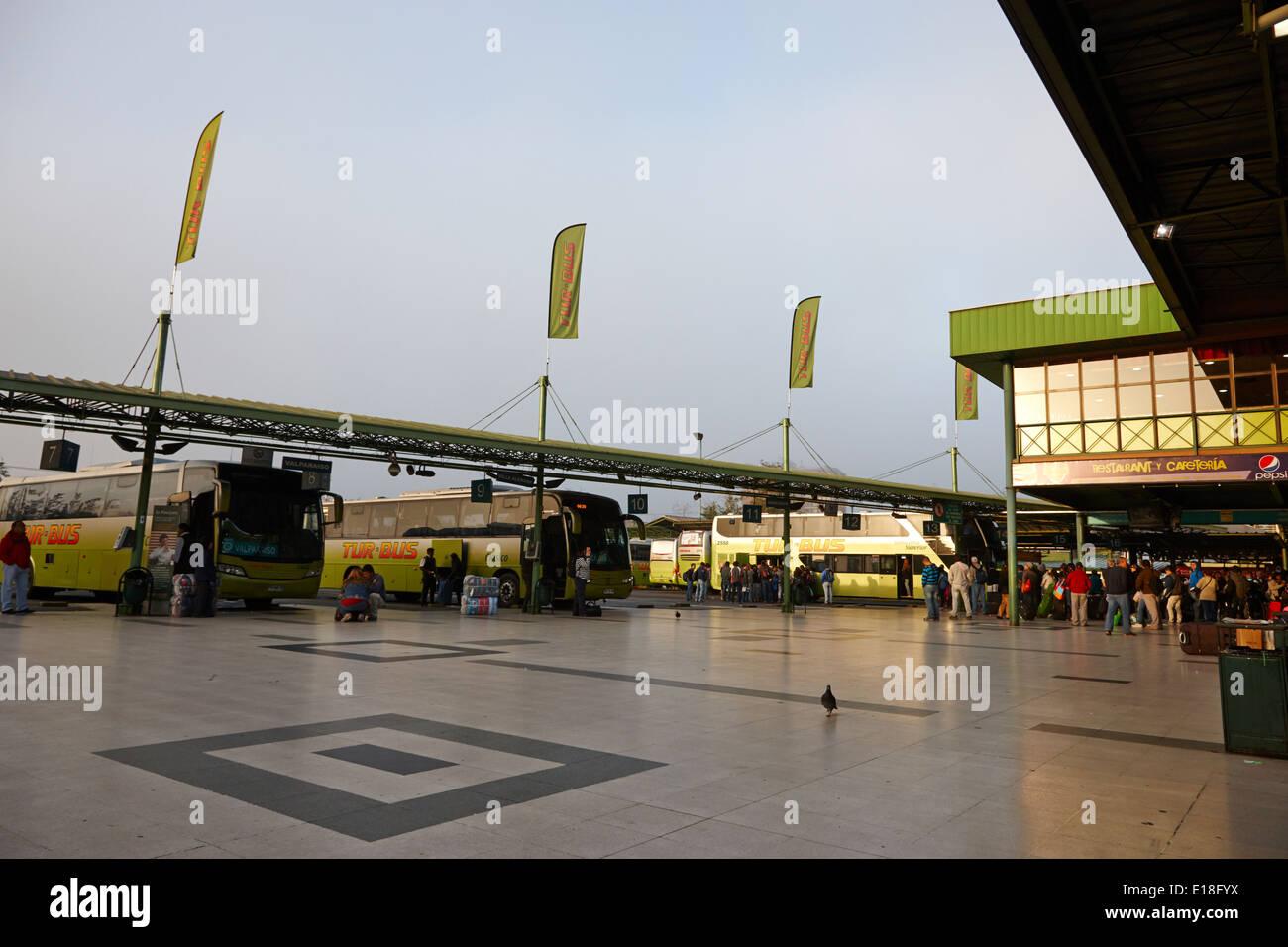 andenes terminal alameda bus station Santiago Chile - Stock Image
