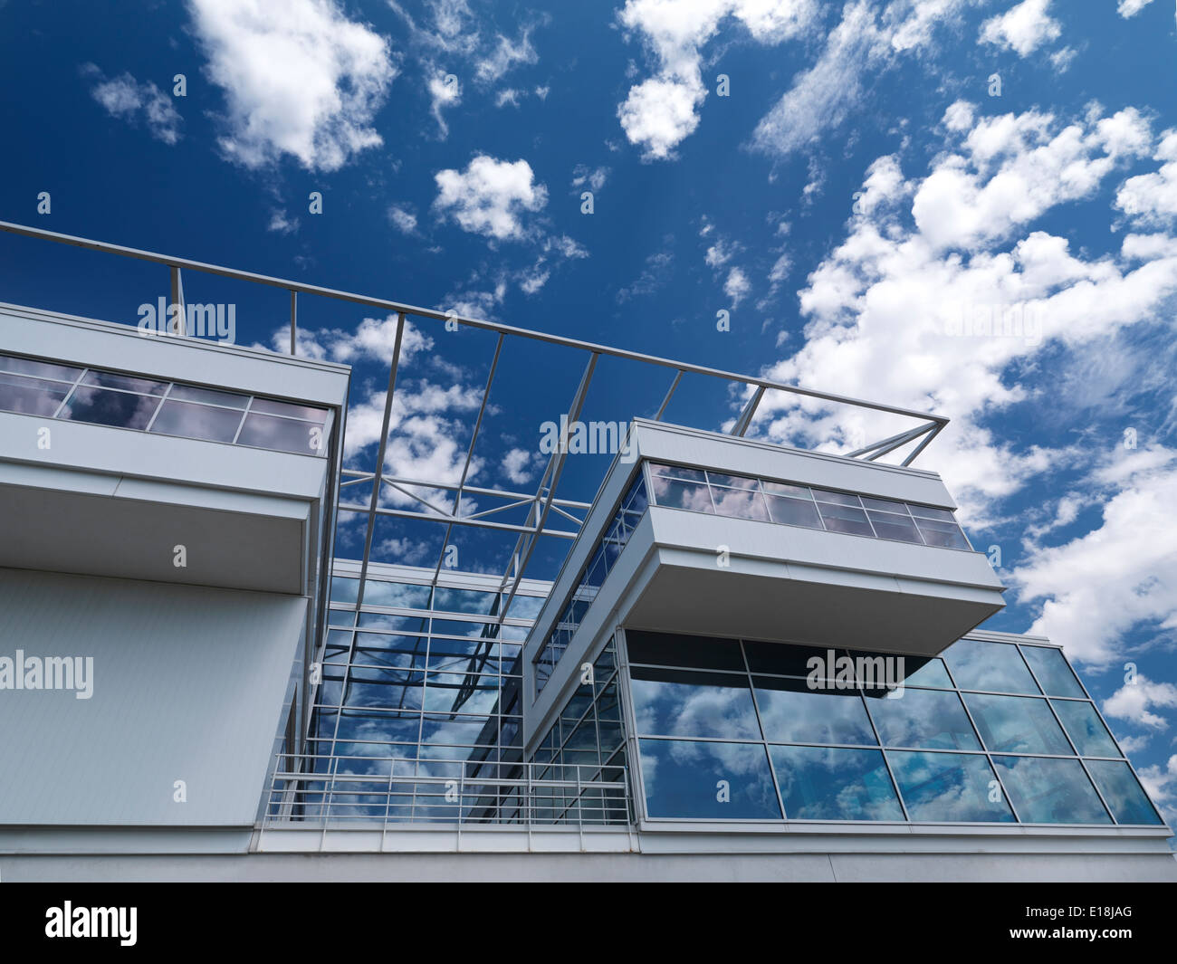 Ontario Association of Architects building abstract detail under blue sky in Toronto, Ontario, Canada. - Stock Image