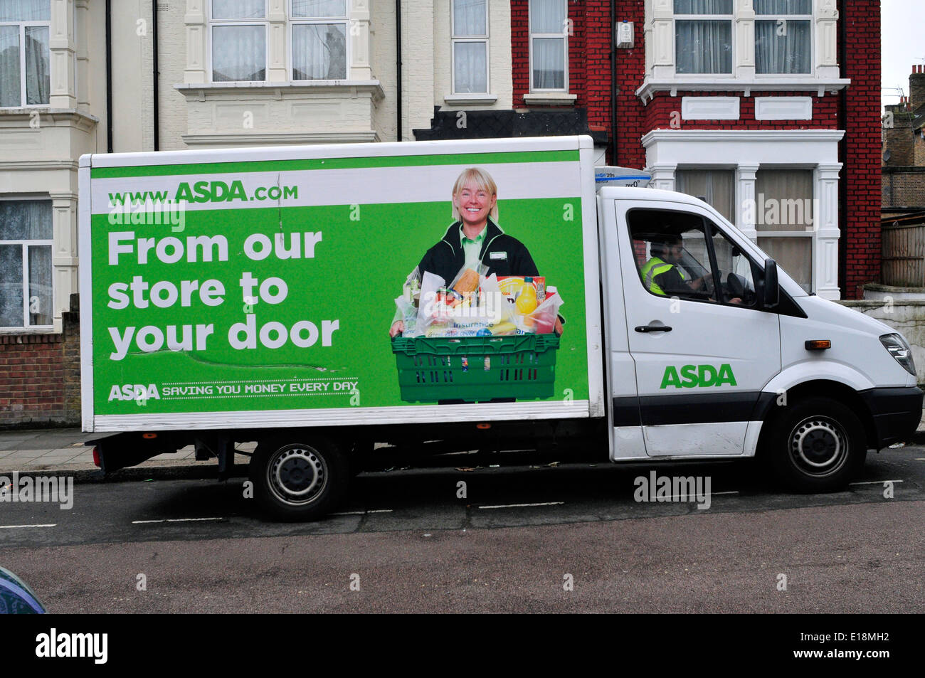 An ASDA delivery van parked in Harlesden, North London, UK - Stock Image