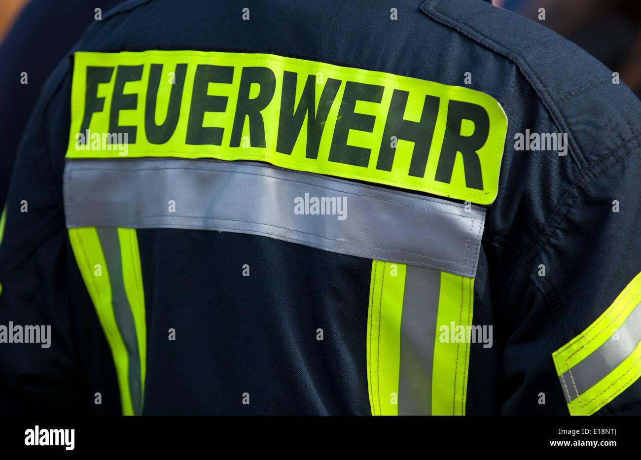 German firefighter - Stock Image