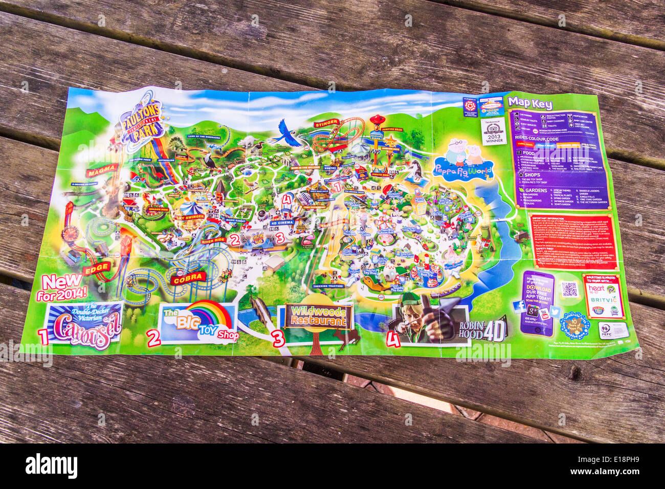 Paultons Park Map Map Of Paultons Park Stock Photos & Map Of Paultons Park Stock  Paultons Park Map