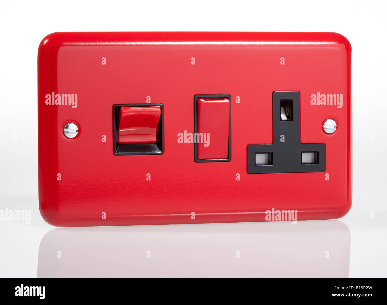 UK electrical power socket with switches Stock Photo: 69649857 - Alamy