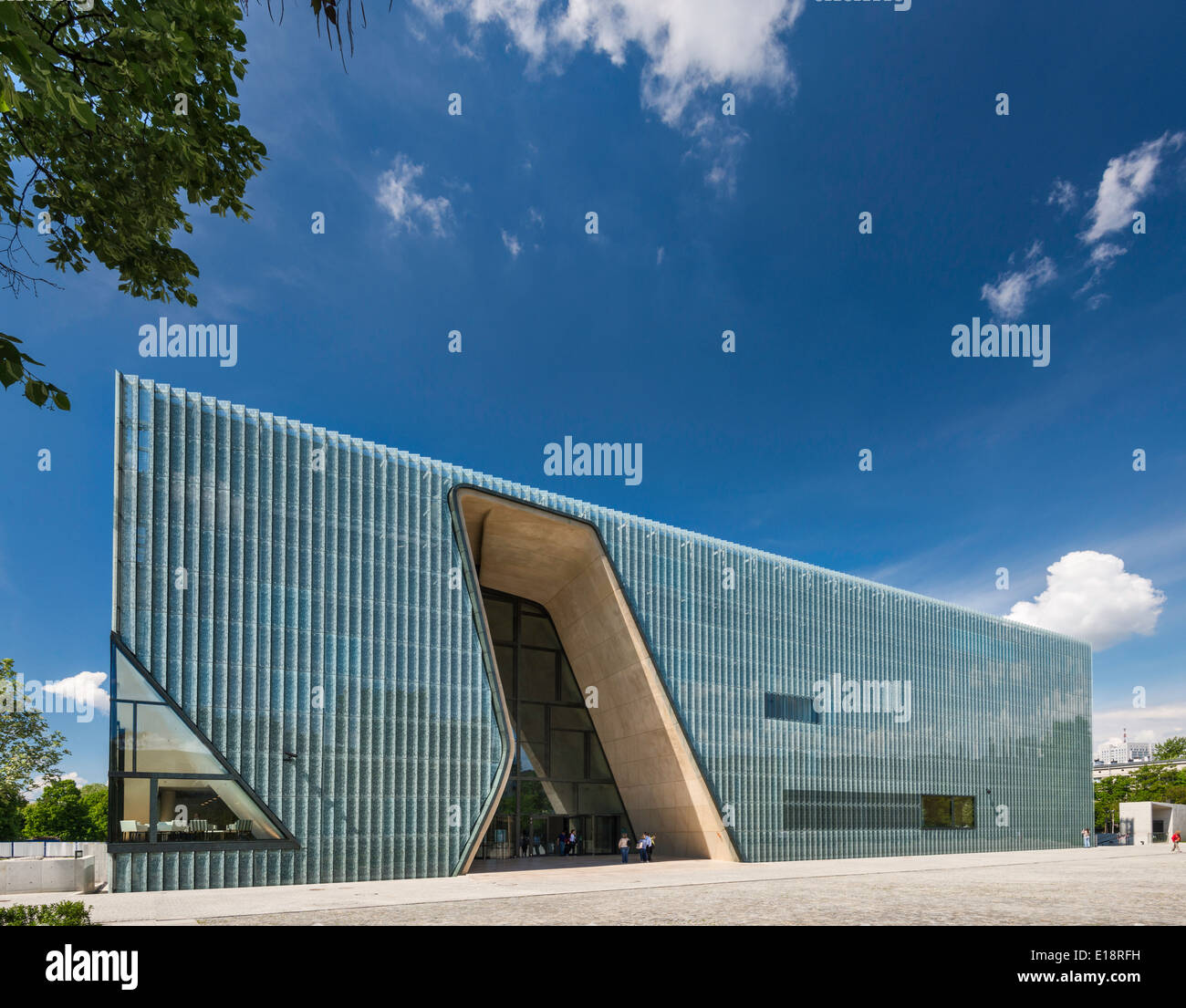 Museum of the History of Polish Jews, opened in 2013, Warsaw, Poland - Stock Image