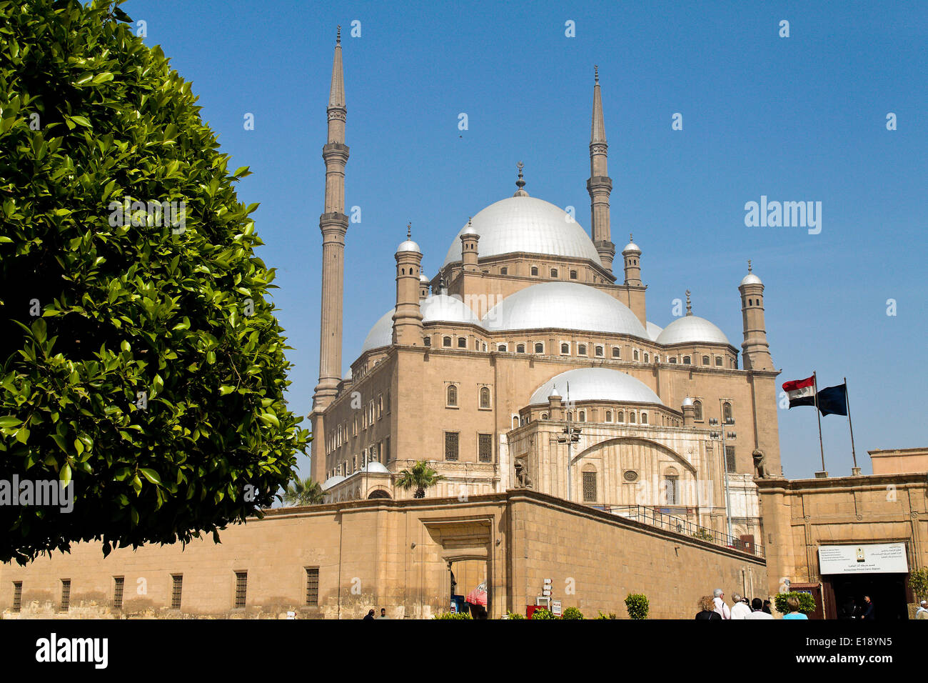 ƒgypten, Kairo. Mohammed Ali Moschee. Alabsater-Moschee. Aussen. Stock Photo