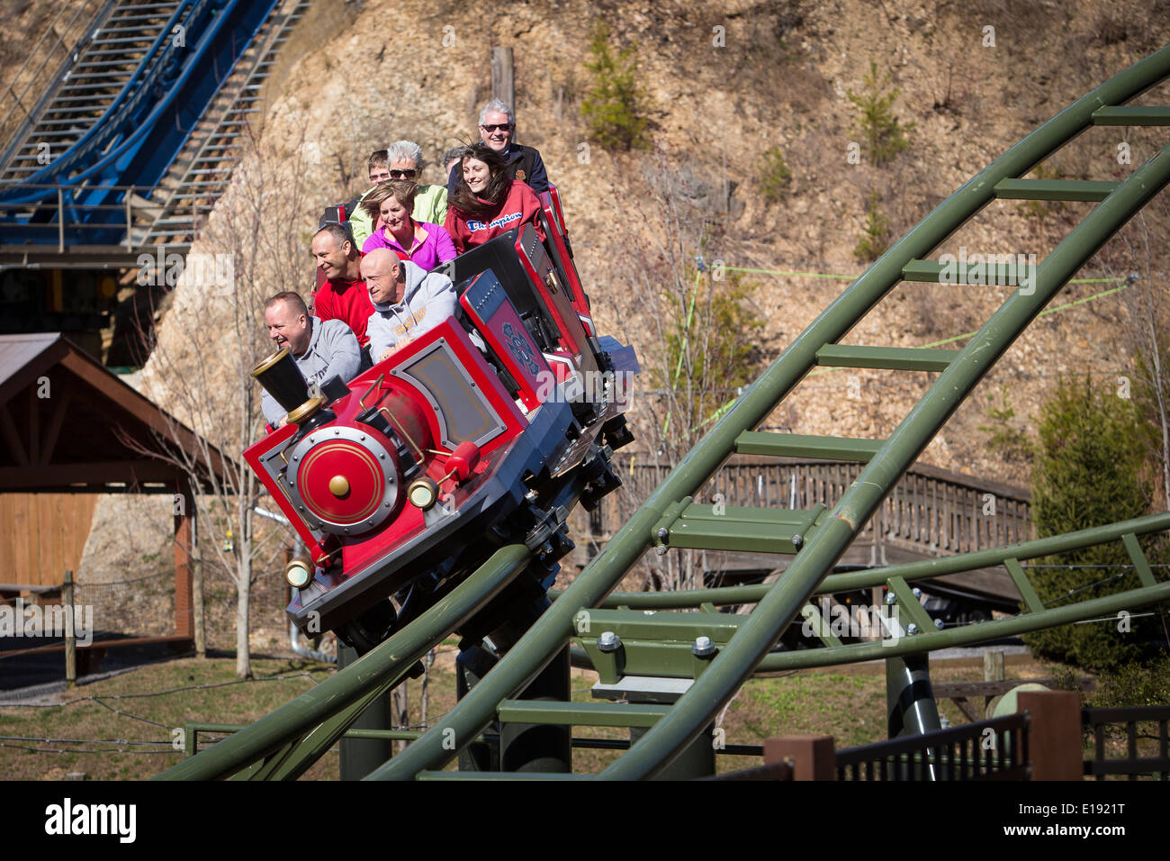 The FireChaser Express roller coaster is pictured in