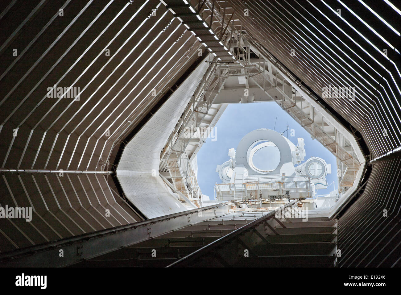 Optical tunnel, McMath-Pierce Solar Telescope.. - Stock Image