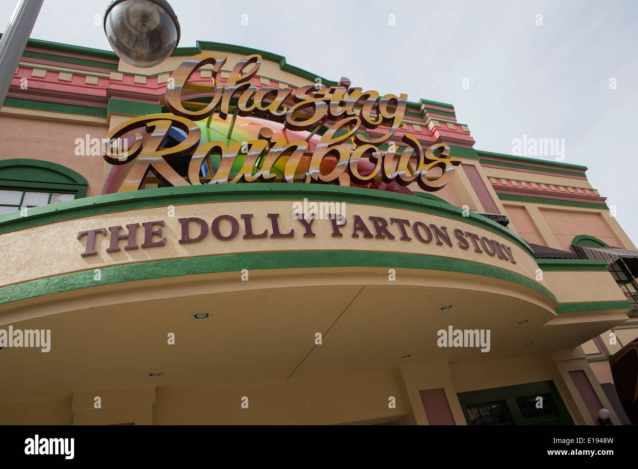 Chasing Rainbows Museum, Dolly Parton museum, is pictured in Dollywood theme park in Pigeon Forge, Tennessee - Stock Image