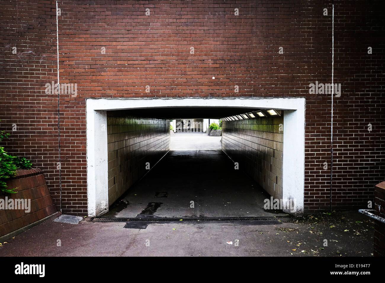 A pedestrian underpass. - Stock Image