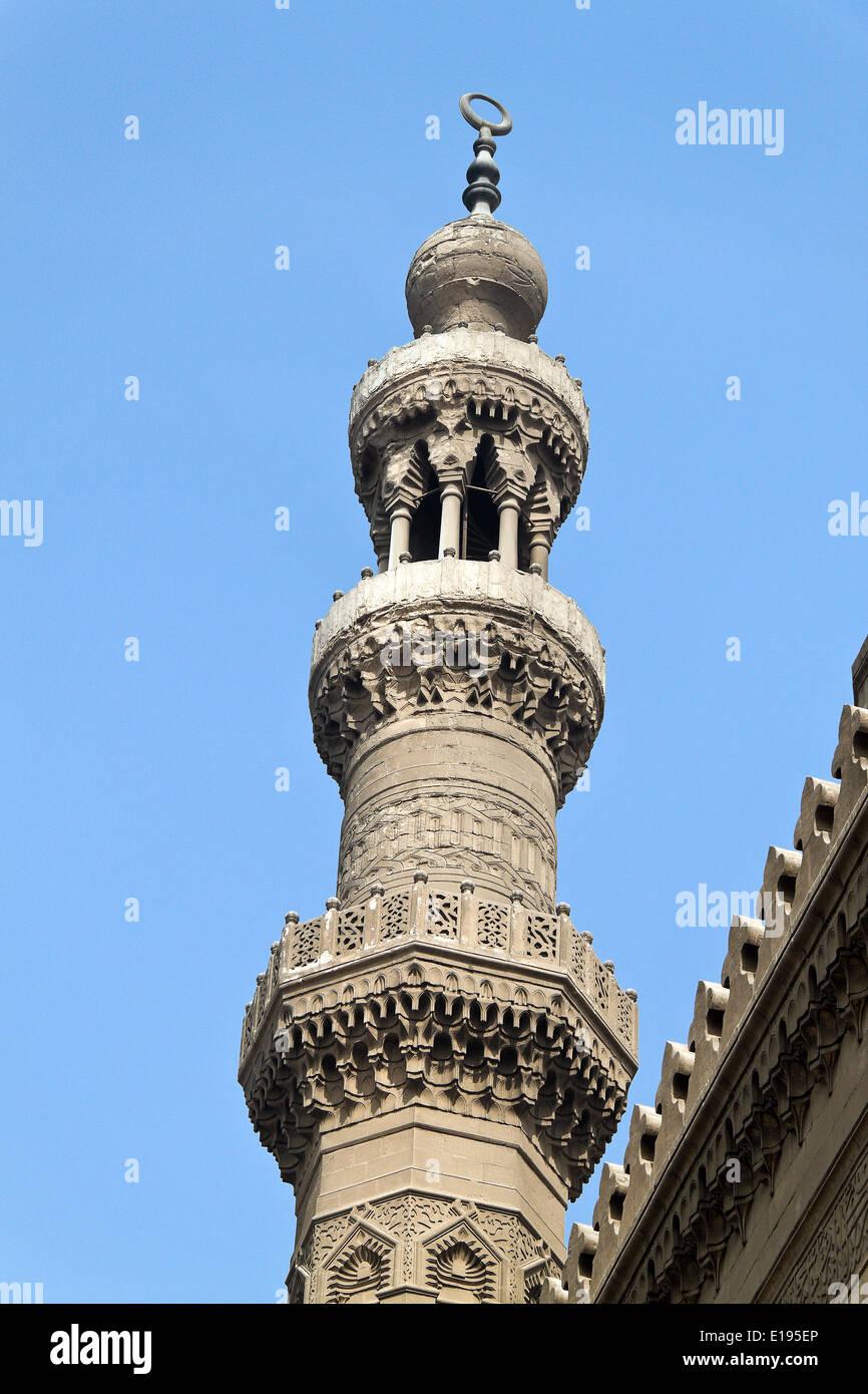 ƒgypten, Kairo, Minarett der ar-Rifai-Moschee Stock Photo