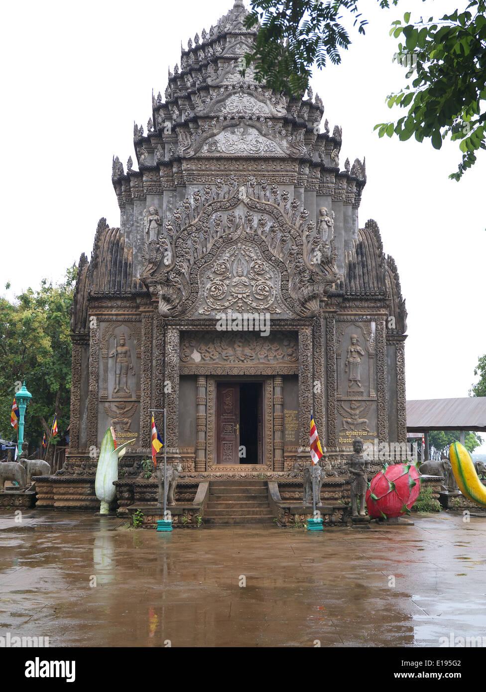Wat Hanchey temple complex Cambodia - Stock Image