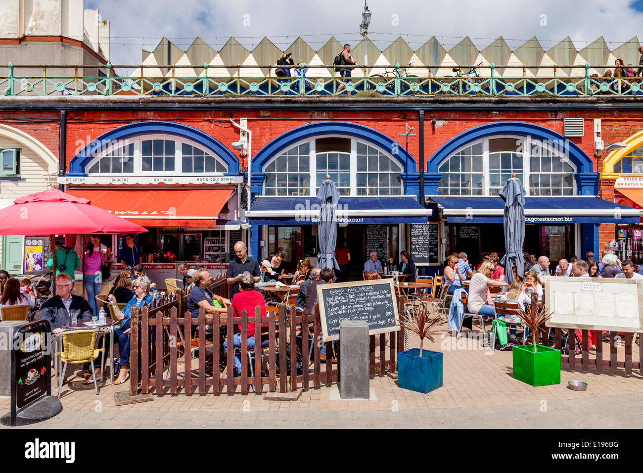Cafe/Restaurant, Brighton Seafront, Sussex, England Stock Photo