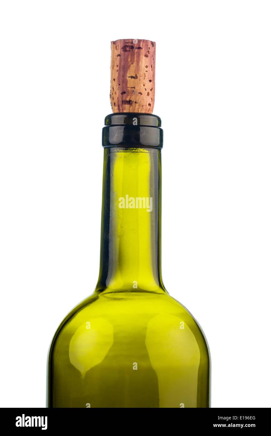 Der Korken einer Weinflasche in Nahaufnahme. Wein trinken ist in. - Stock Image