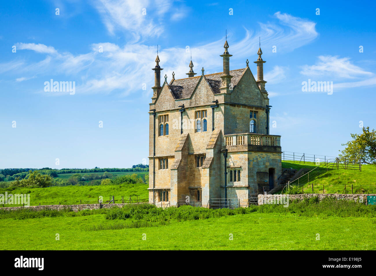 East Banqueting House Jacobean Lodge, Chipping Campden, Gloucestershire, Cotswolds, England, UK, EU, Europe Stock Photo