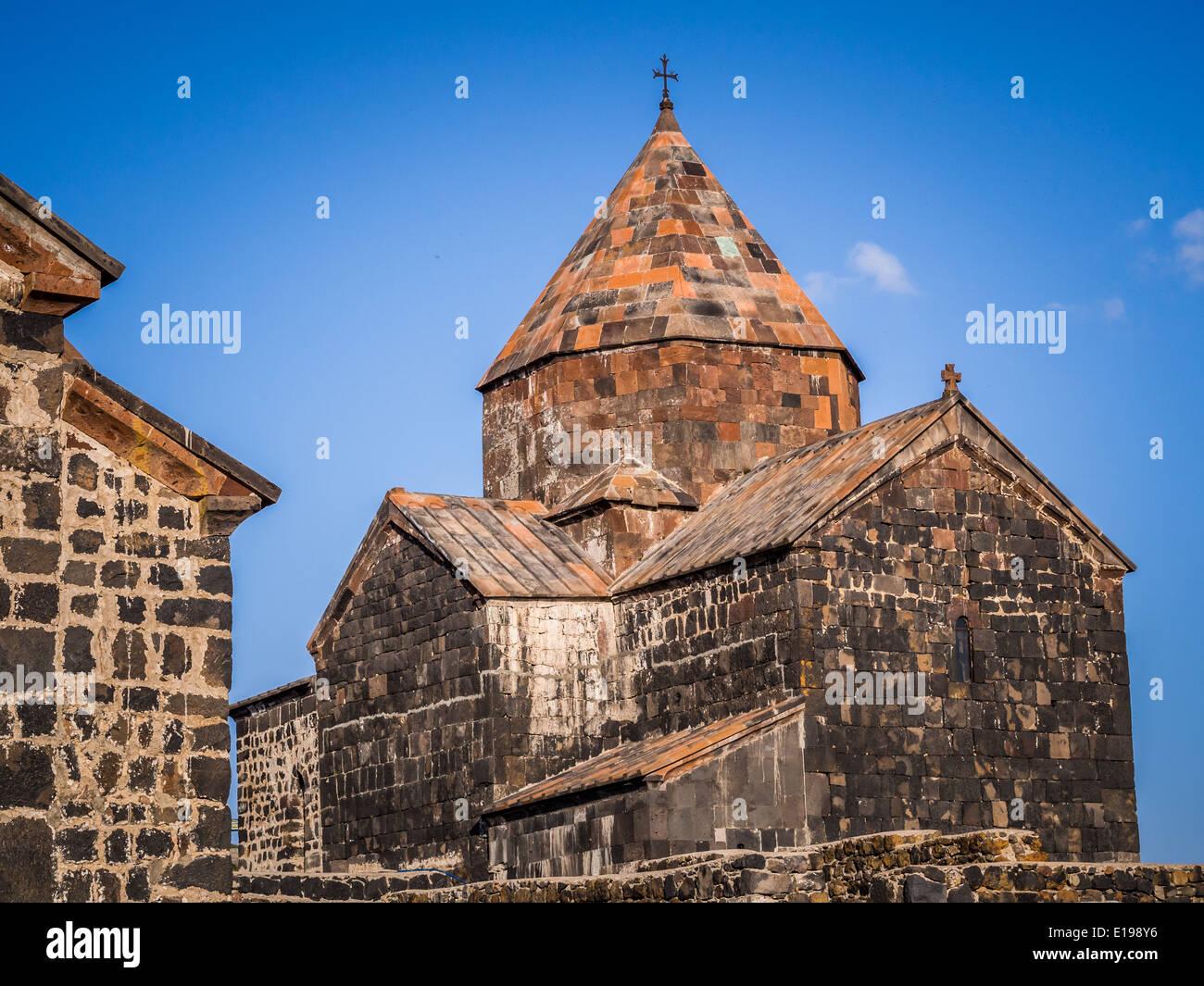Sevanavank monastic complex in Armenia. - Stock Image