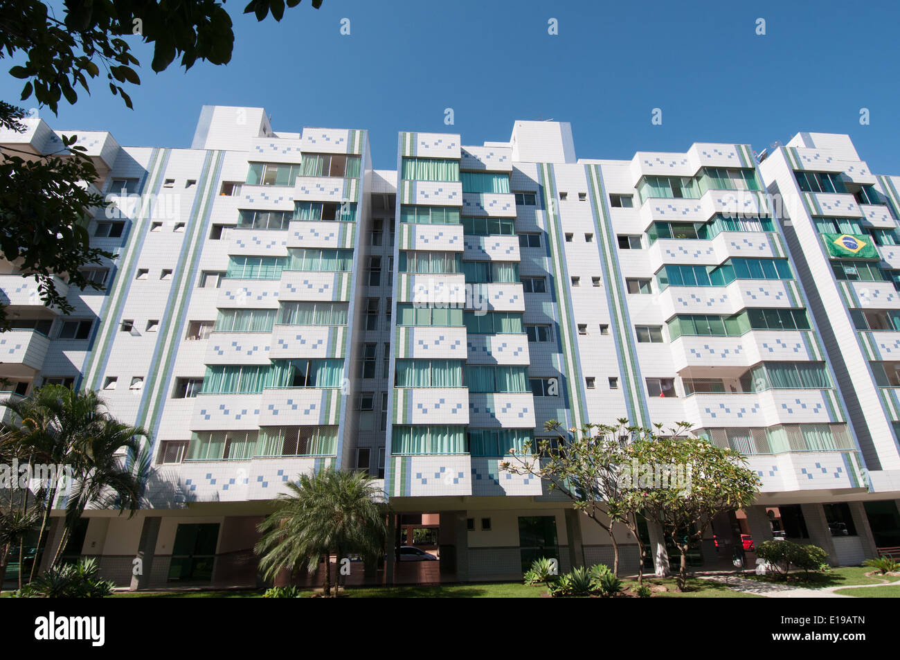 Residential buildings blocks Brasilia Brazil - Stock Image