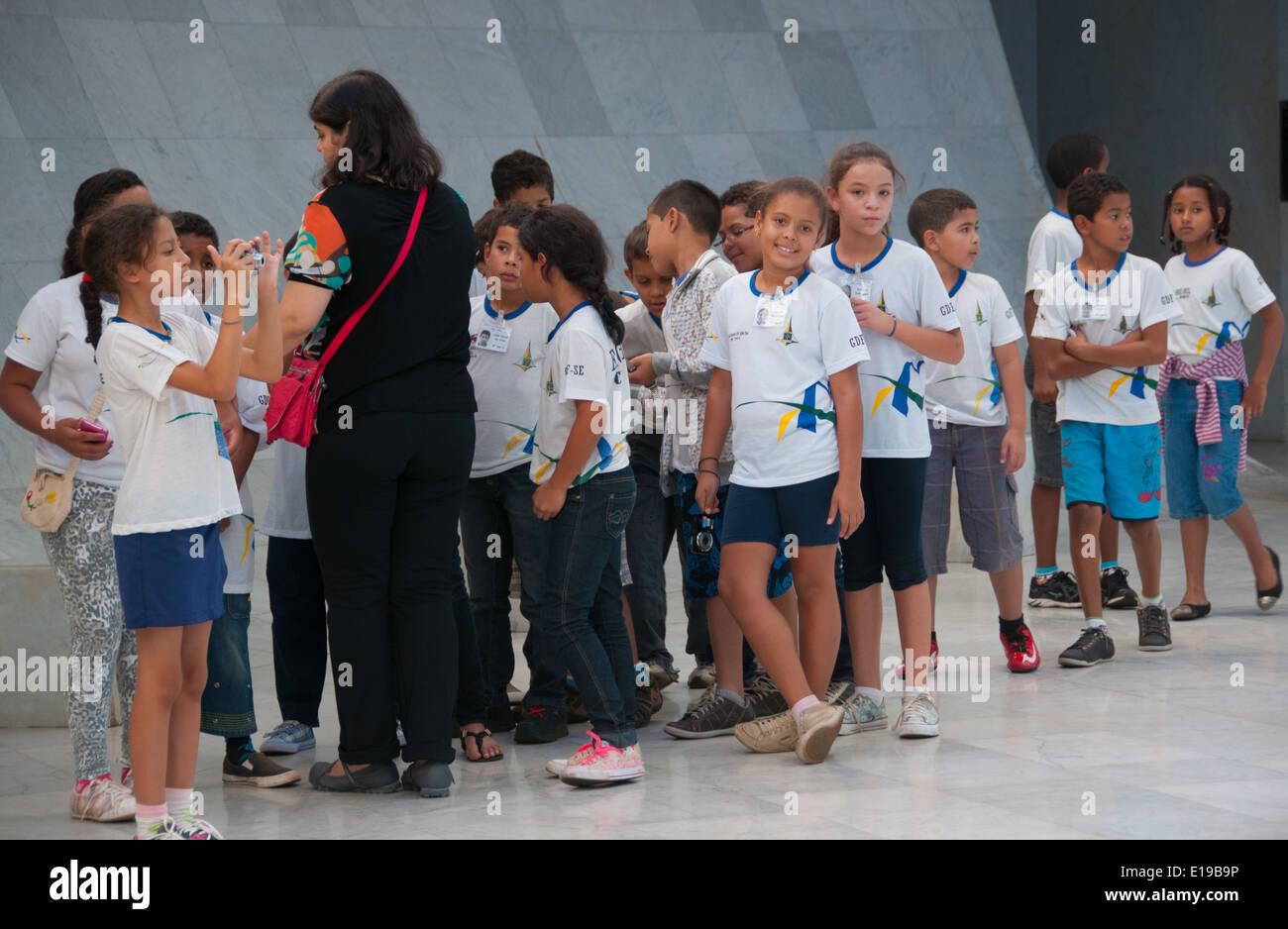 Outing of schoolchildren Brazil Brasilia - Stock Image
