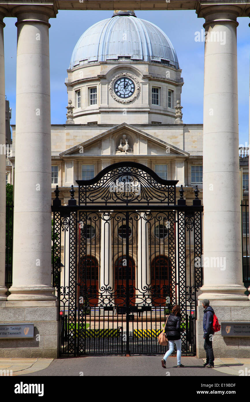 Ireland, Dublin, Government Buildings, Stock Photo