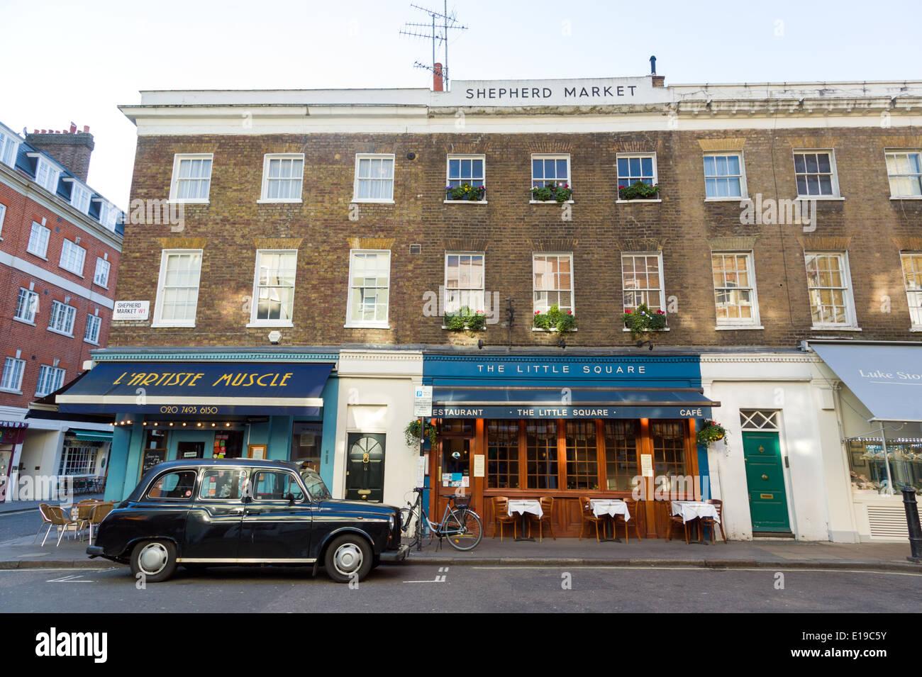 Shepherd Market, Mayfair, London, UK - Stock Image