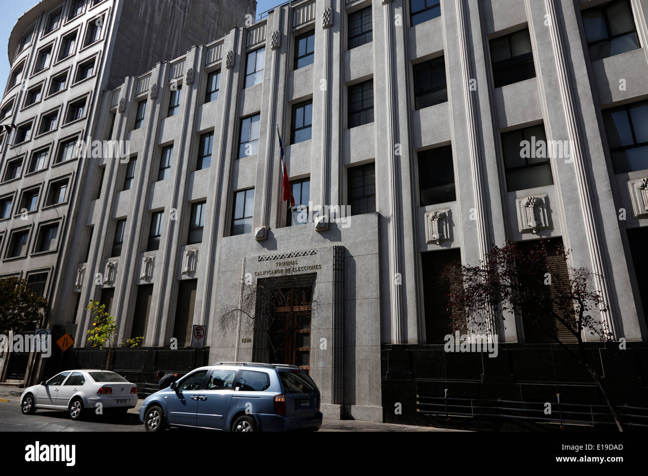 tribunal calificador de elecciones electoral court of chile Santiago Chile Stock Photo