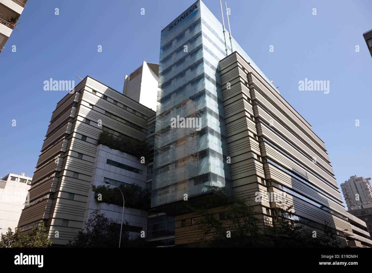 sonda it company headquarters Santiago Chile - Stock Image
