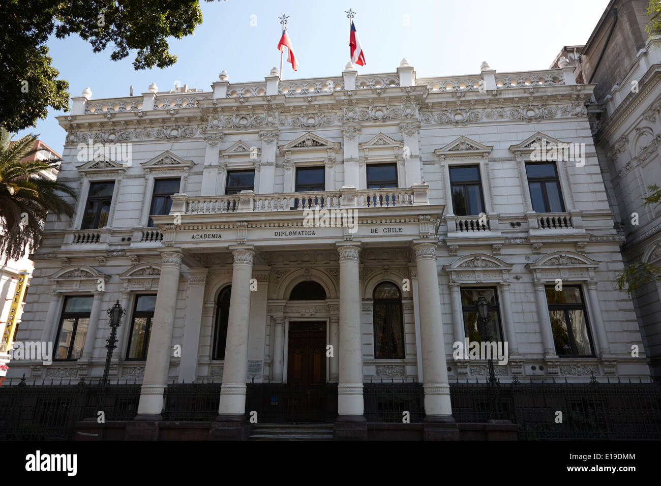 andres bello academia diplomatica de chile in edwards palace Santiago Chile - Stock Image