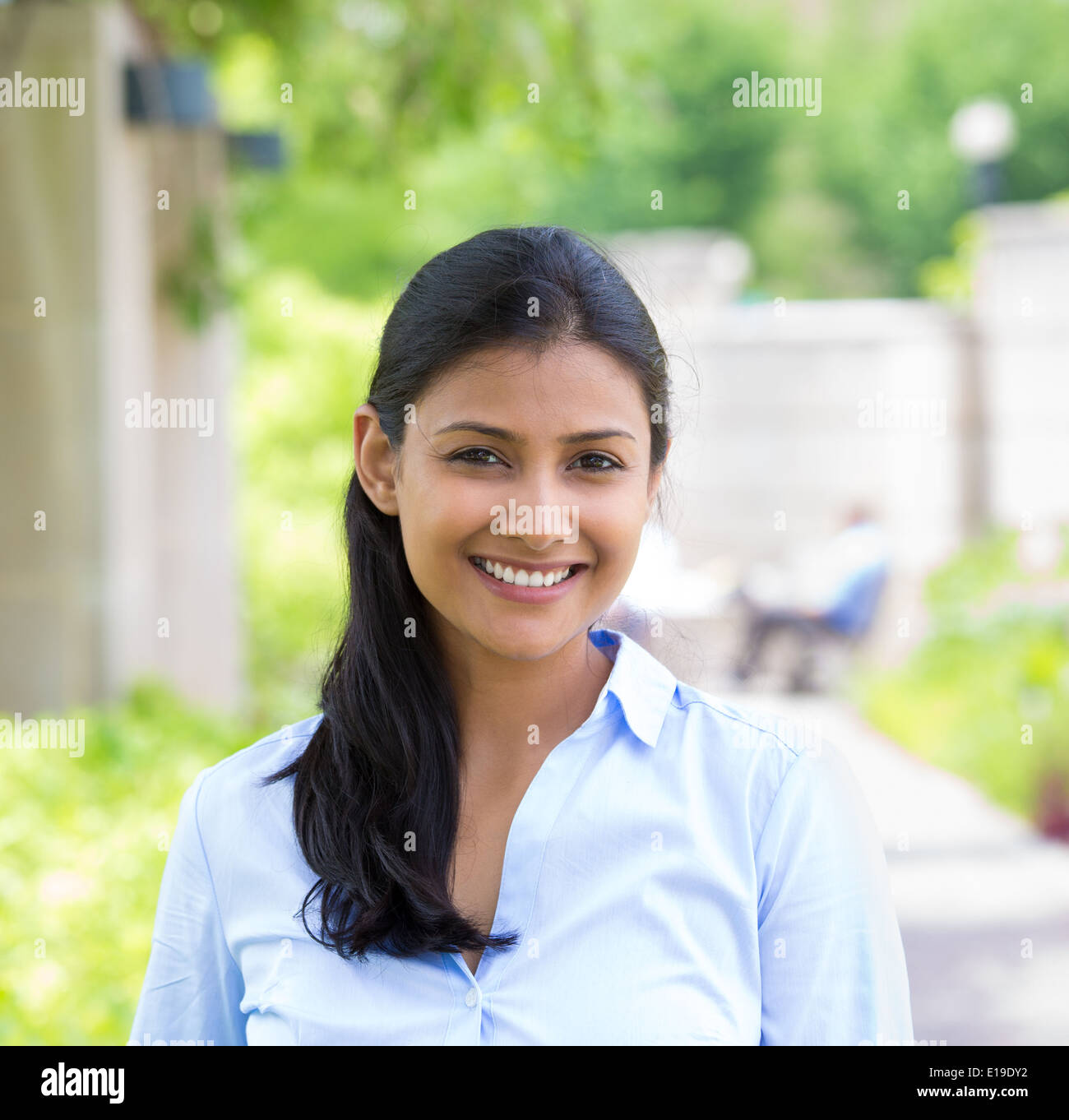 Headshot beautiful woman - Stock Image