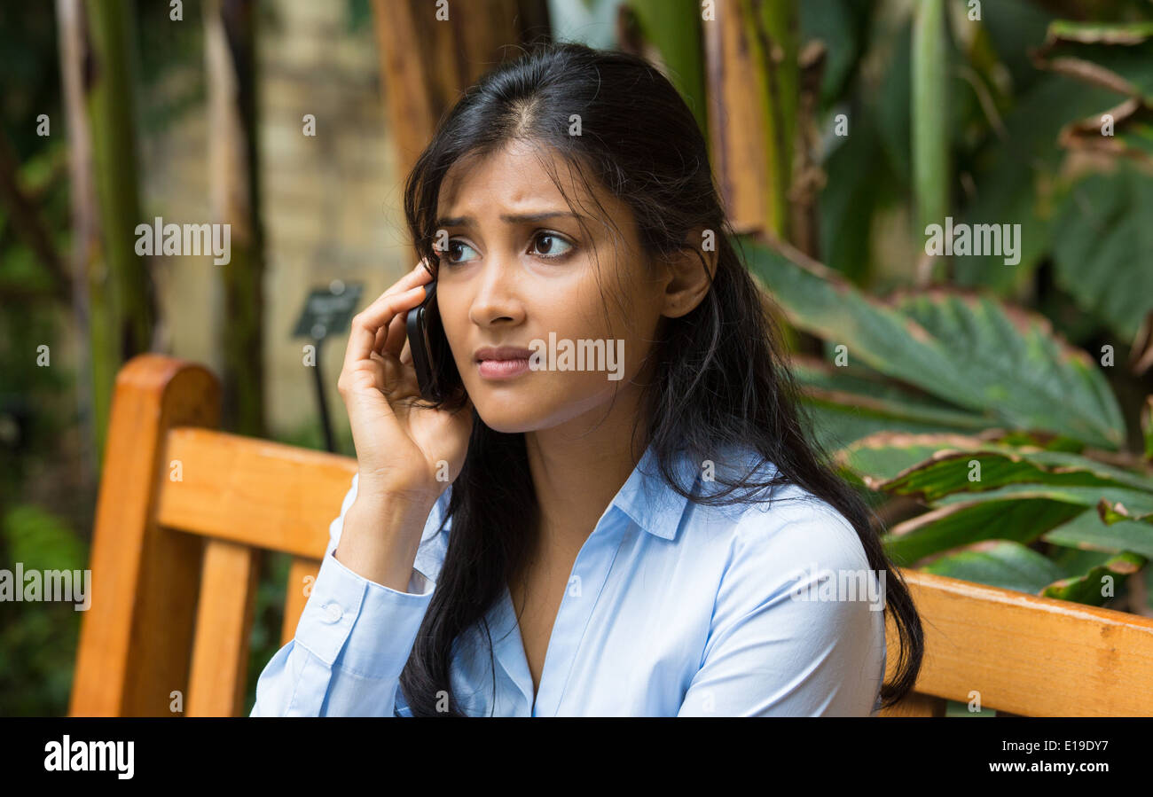 Bad news phone call - Stock Image
